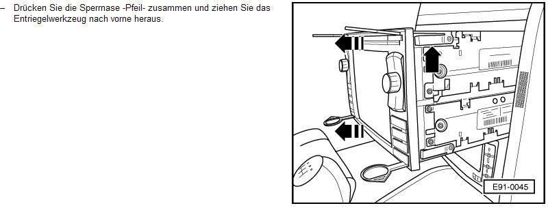Navi-raus : Navi MFD ausbauen...paar Probleme : VW Passat