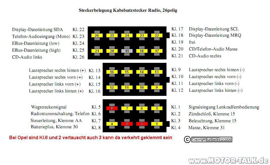 opel astra wiring diagram subaru legacy audio omega b - fl radio/bc ncdc 2013 und cid durch fremdradio mid ersetzen? seite 2 : also ...