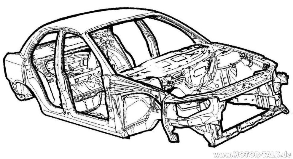Omi-b-limo-zeichnung : Zeichnung Omega B : Opel Omega
