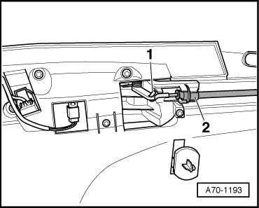 A70-1193 : Türverkleidung vorne links ausbauen : Audi A3