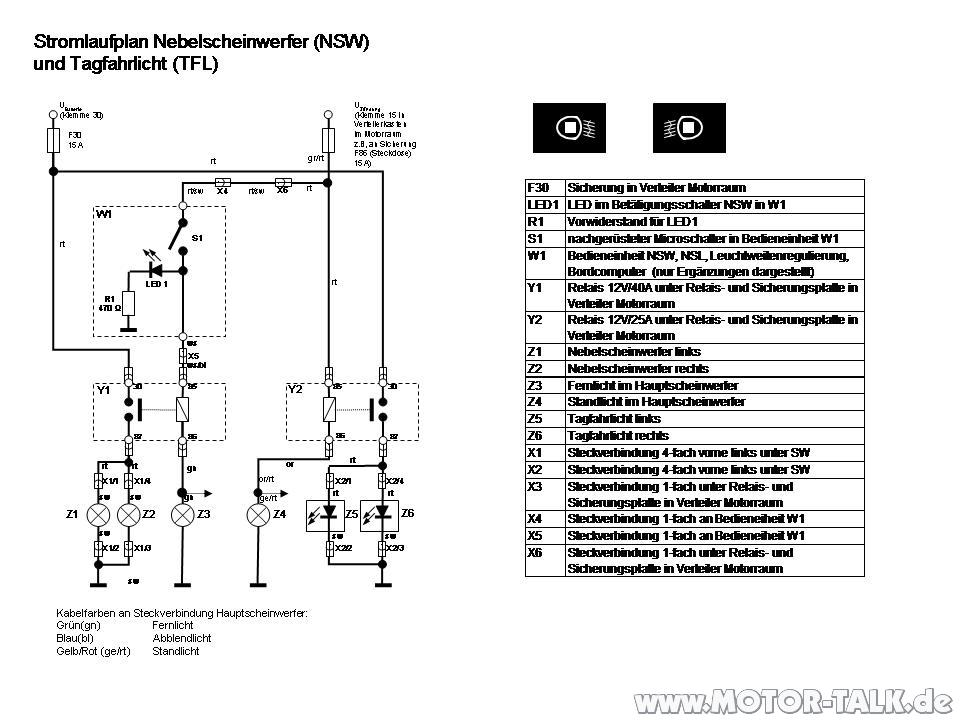 Stromlaufplan-nsw-tfl-konventionell : Grande Punto