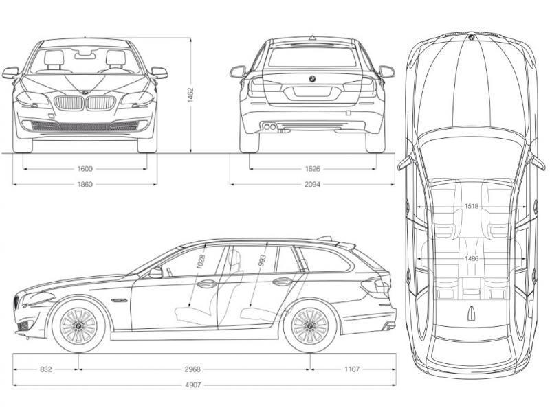 Bmw-5er-touring-f11-abmessungen : Beifahrersitz : BMW 5er