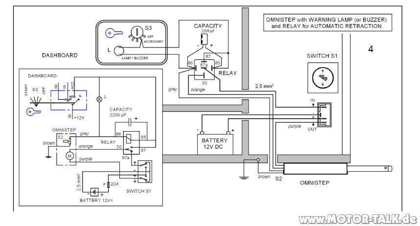 Omnistep : 2ter trittstufen schalter einbauen : Wohnmobile