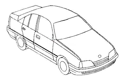 Omi a zeichnung : Zeichnung Omega B : Opel Omega & Senator