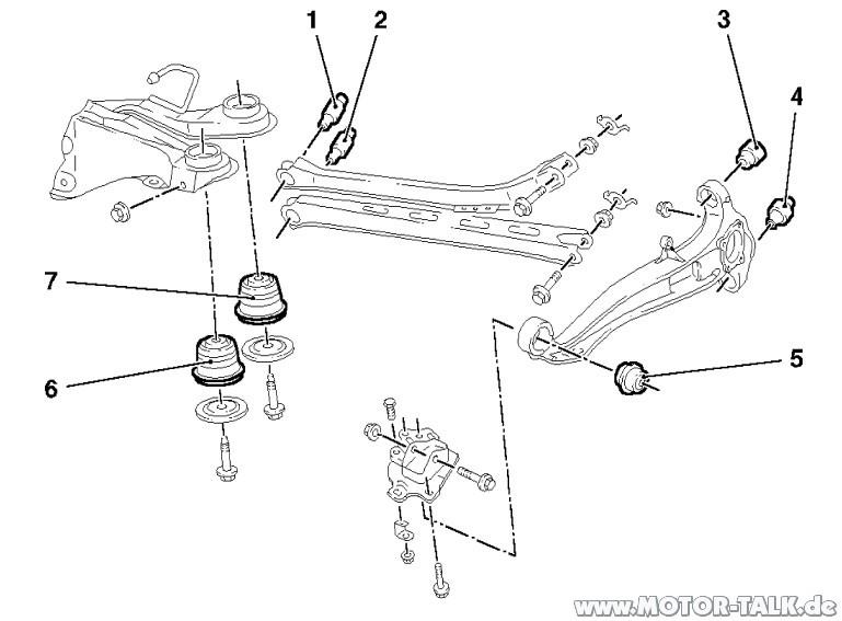 Hinterachse-vectra-b-37976 : Stabilager Hinterachse : Opel