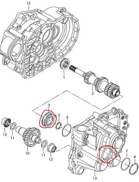 Lager in Getriebegehäuse ausgeschlagen // Druckpunkt