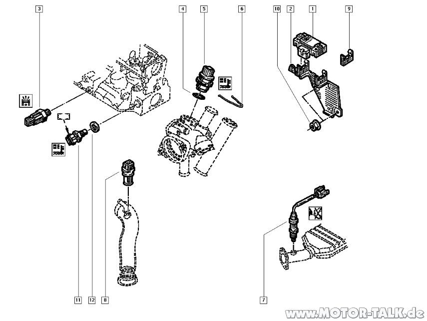 Temp-geber : Temperaturfühler austauschen : Renault Megane