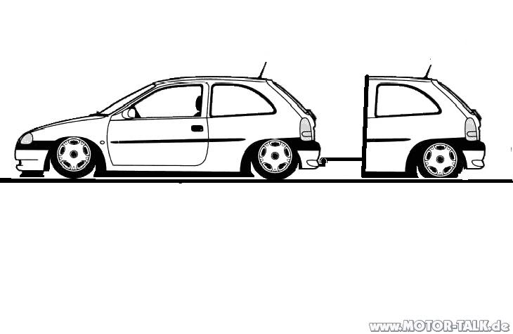 Corsa-b : Suche techniche masse und skizzen zum B : Opel