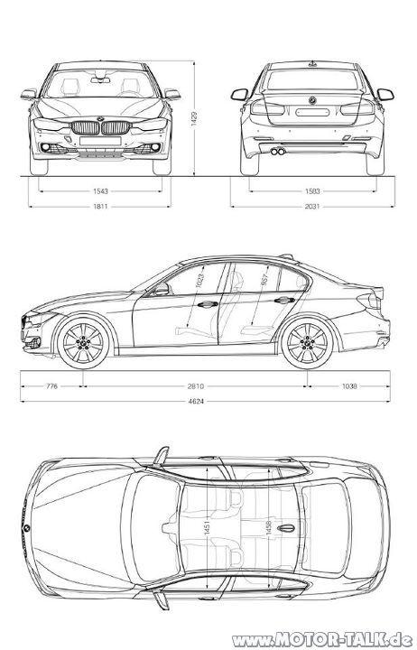 F30-drawing : Erlkönig neuer BMW 3er (F30) : BMW 3er F30