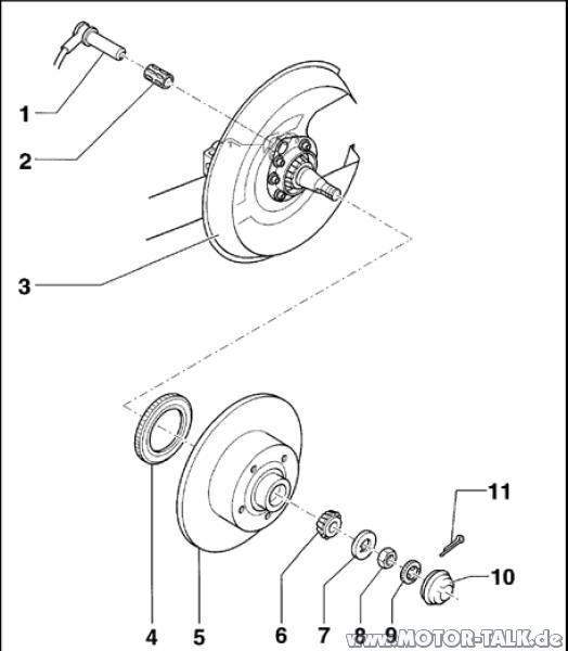 Audi-a4-b5-bremse-hinten : Abs Ring : Audi A4 B5 : #203426522