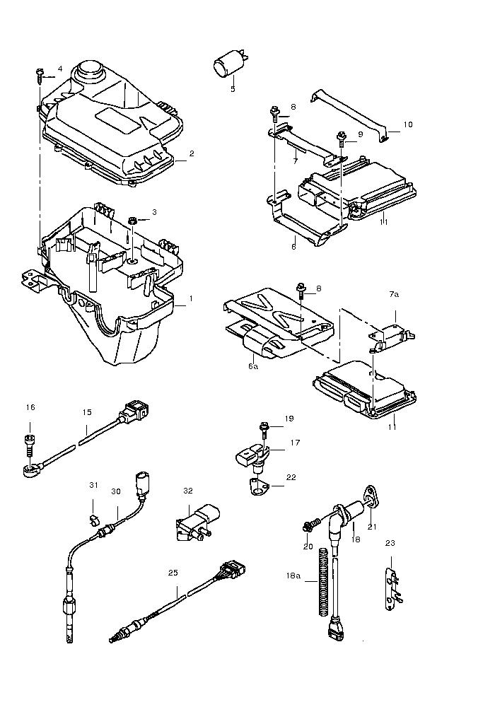 Impulssensor-kurbelwellensensor : Kurbelwellensensor beim
