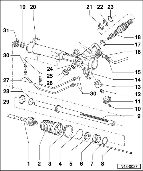 Lenkgetriebe : Servolenkung undicht, was befindet sich