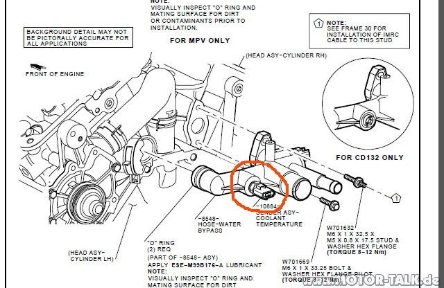 Sensor : Mondeo Mk2 V6 Kühlung : Mondeo Mk1 & Mk2 & Cougar