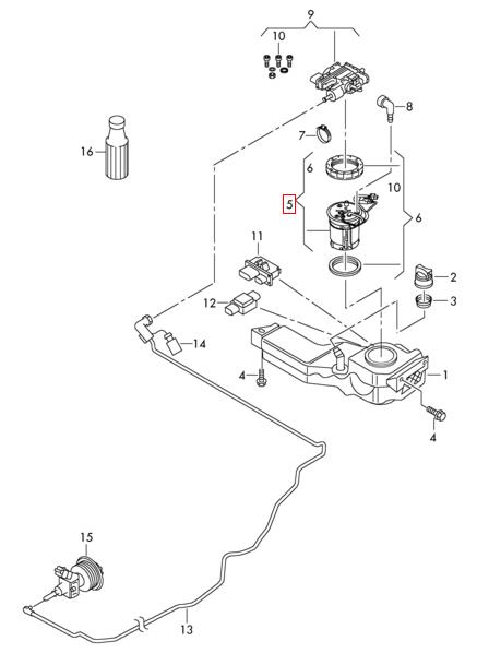 Adblue-heizung-bild : NOX Sensor + Steuergerät : VW Sharan