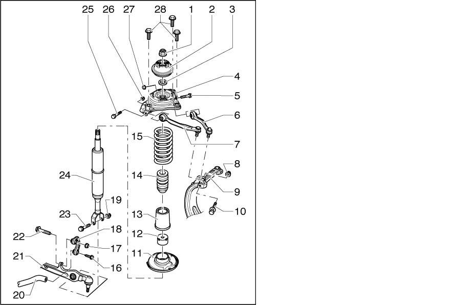 Stossdaempfer Übersicht : Federn vorne ausbauen/tauschen