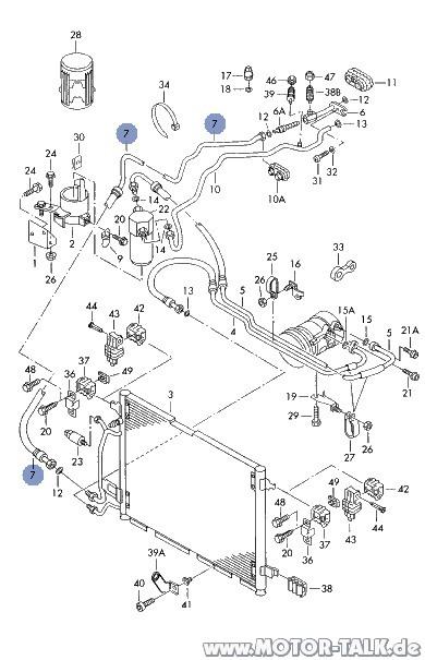 A4-klima : Explosionszeichnung : Audi A4 B5 : #202982448