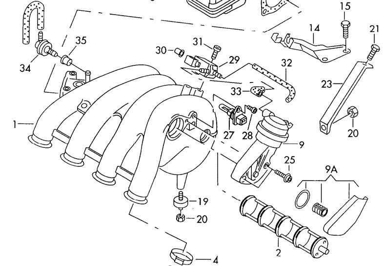 Audi A4 B5 Ansaugdrehschieber : Biete Audi