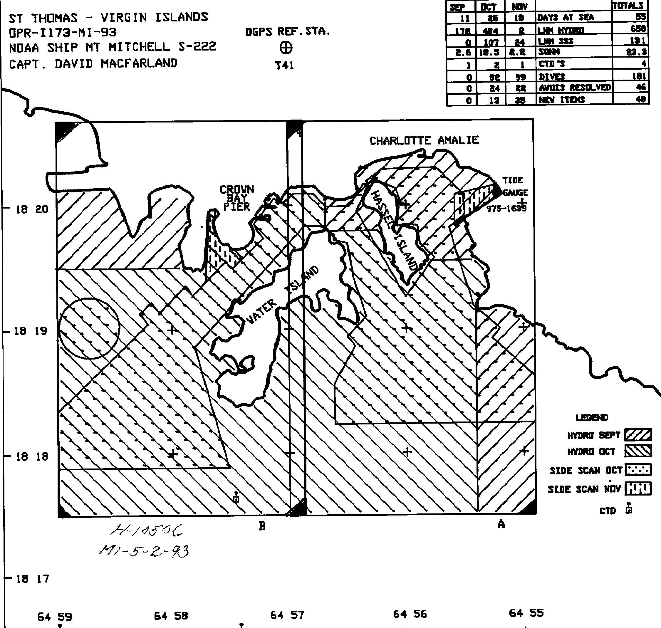 H10506: NOS Hydrographic Survey , St. Thomas Harbor