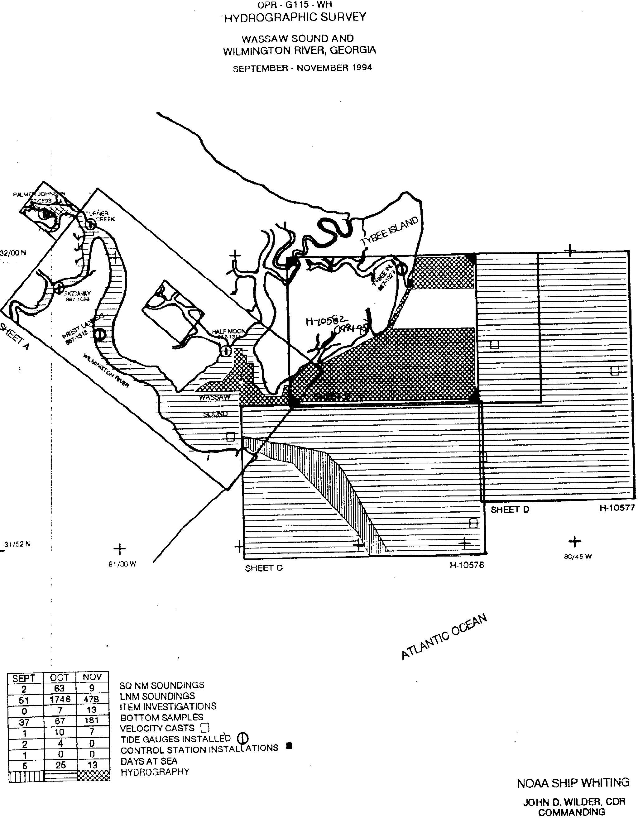 H10582: NOS Hydrographic Survey , Wassaw Sound and