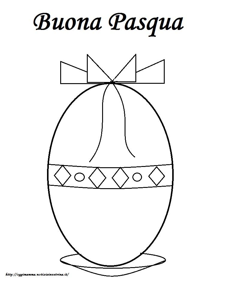 Disegni Di Pasqua Bambini Uovo Di Pasqua Da Colorare