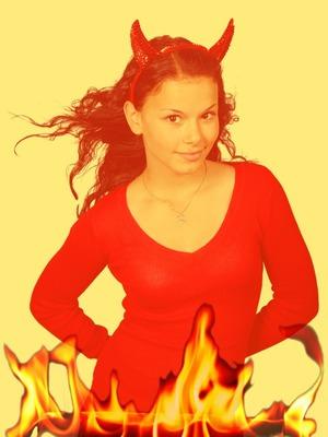 Les Flammes De L Enfer : flammes, enfer, Montage, Photo, Flammes, L'enfer, Pixiz