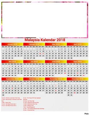 Kalender Agustus 2018 : kalender, agustus, Photo, Montage, Kalender, (Malaysia), Pixiz