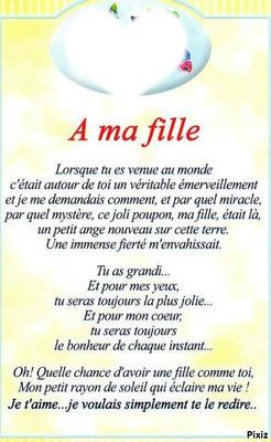 Poeme A Ma Fille Que J Aime : poeme, fille, Photo, Montage, Fille, Pixiz