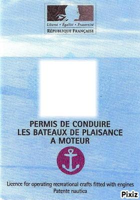 Faux Permis De Conduire : permis, conduire, Photo, Montage, Permis, Bateau, Pixiz
