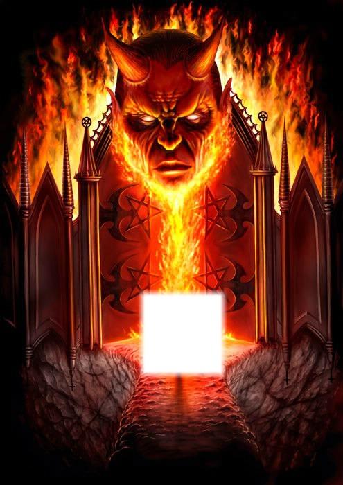 Les Flammes De L Enfer : flammes, enfer, Photo, Montage, L'enfer, Pixiz