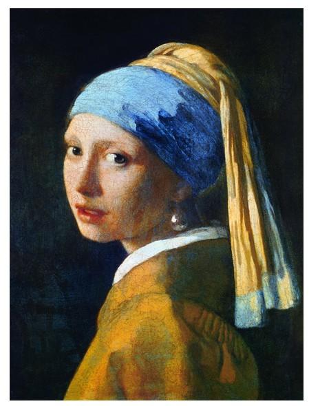 Vermeer La Jeune Fille à La Perle : vermeer, jeune, fille, perle, Puzzle, Vermeer, Johannes, Jeune, Fille, Perle,, Eurographics-6000-5158, Pièces, Puzzles, Planet'Puzzles