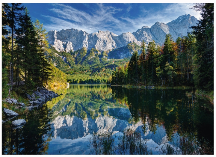 Majestic Fall Wallpaper Puzzle Allemagne Lac Eibsee Ravensburger 19367 1000