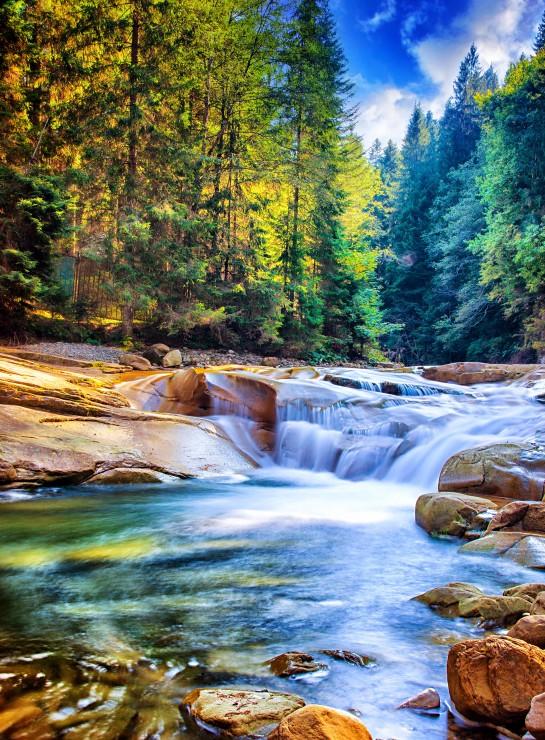 Schner Wasserfall im Wald  2000 Teile  GRAFIKA Puzzle
