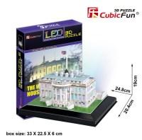 3D Puzzle mit LED - Weies Haus, Washington - 56 Teile ...