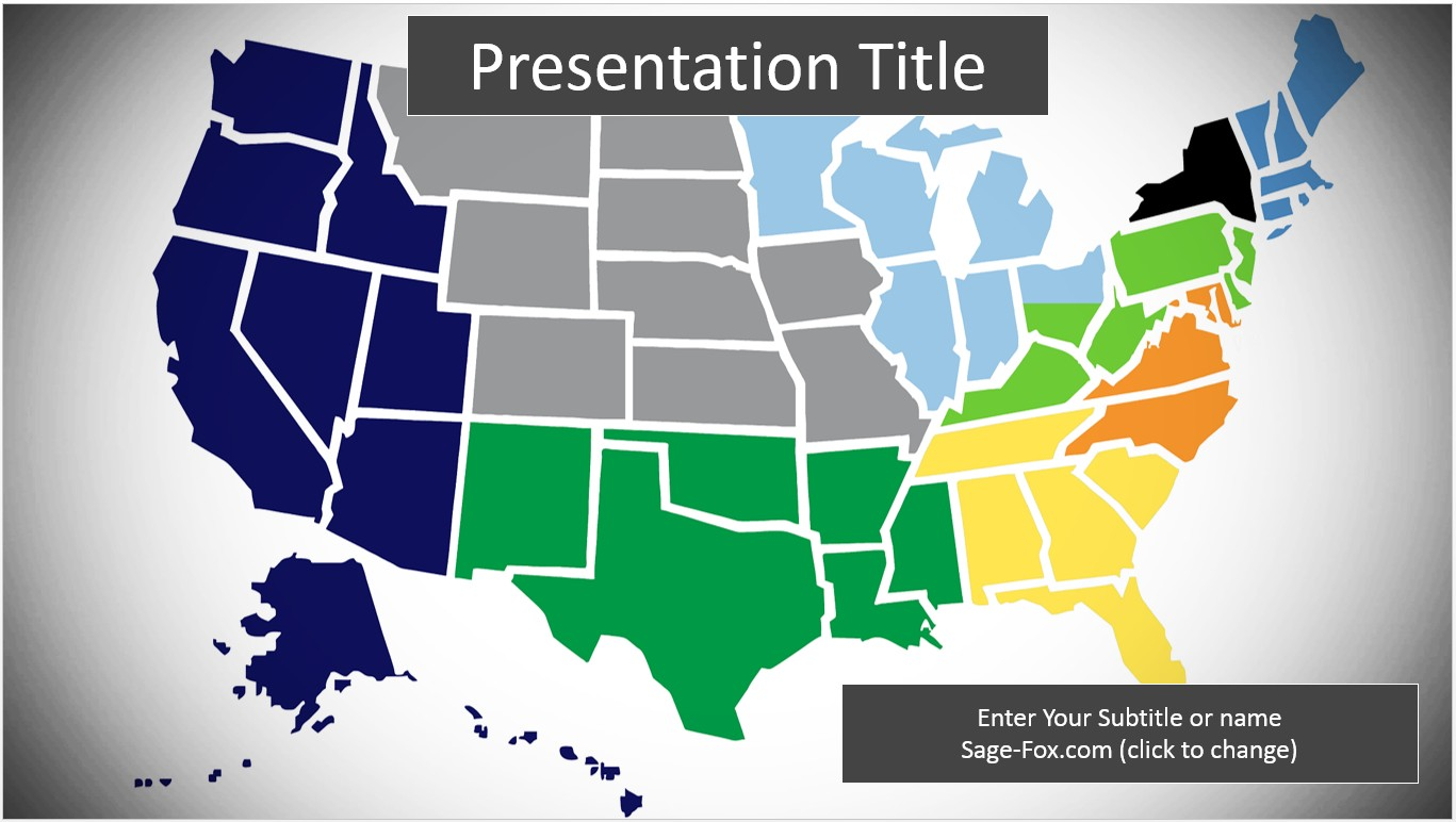 The map legend is sometimes called the map key. Editable Us Map Powerpoint Free Maping Resources