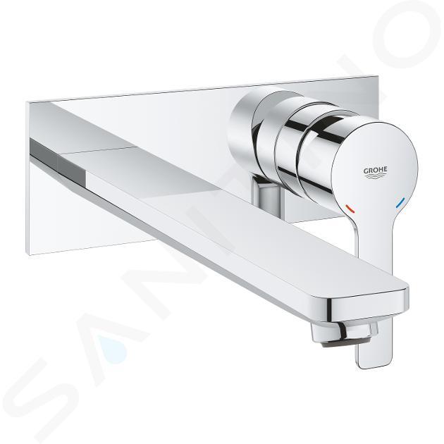 grohe lineare mitigeur de lavabo l encastre installation a 2 trous chrome 23444001