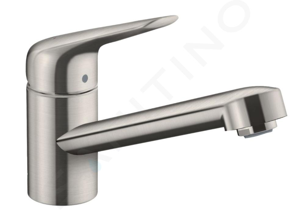 hansgrohe m42 mitigeur d evier m421 h100 aspect inox 71808800