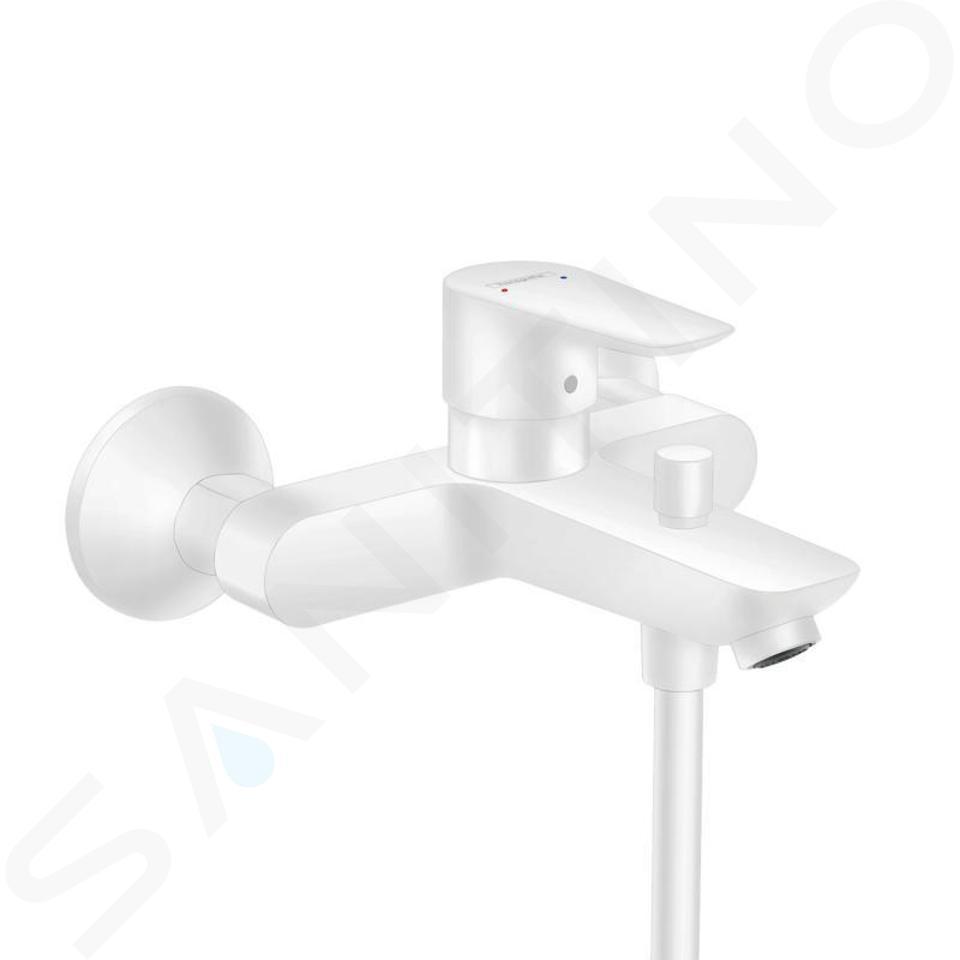 hansgrohe talis e mitigeur de baignoire blanc mat 71740700
