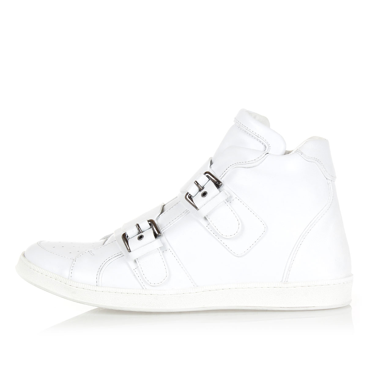 Dsquared2 Men Velcro Closure Leather High Sneakers