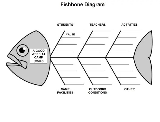 Fishbone Diagram Template for Camps Download Fillable PDF