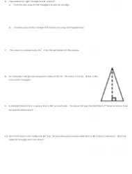 Pythagorean Theorem Word Problems Worksheet With Answer