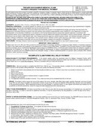 DD Form 2642 Download Fillable PDF TRICARE DoDCHAMPUS