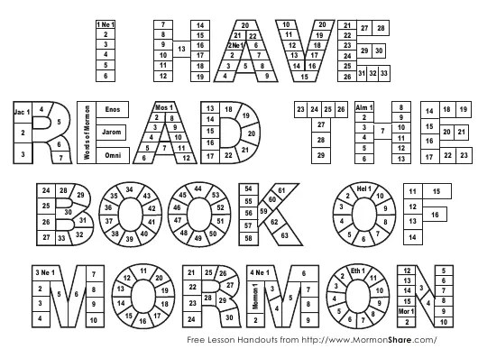 Book of Mormon Reading Chart Template Download Printable