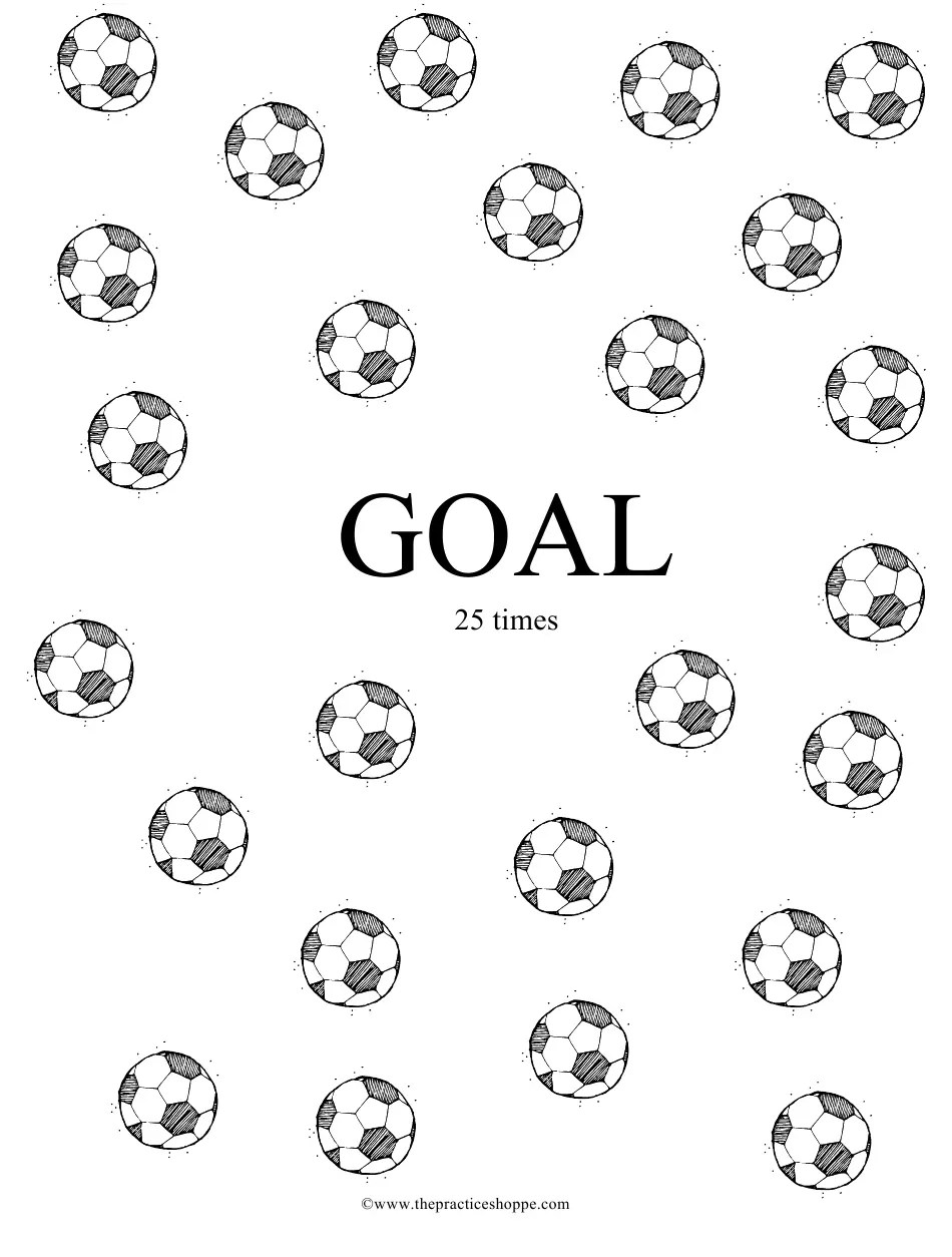 Soccer Practice Chart Template Download Printable PDF