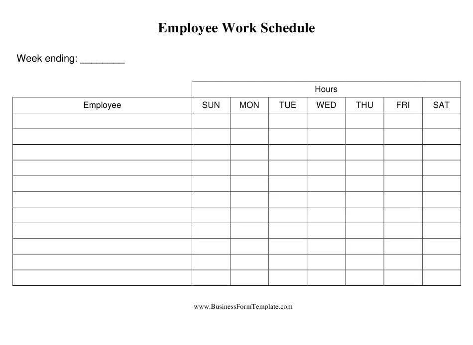 Download employee weekly work schedule template to realize what effective work planning is. Employee Daily Work Schedule Template Download Printable Pdf Templateroller