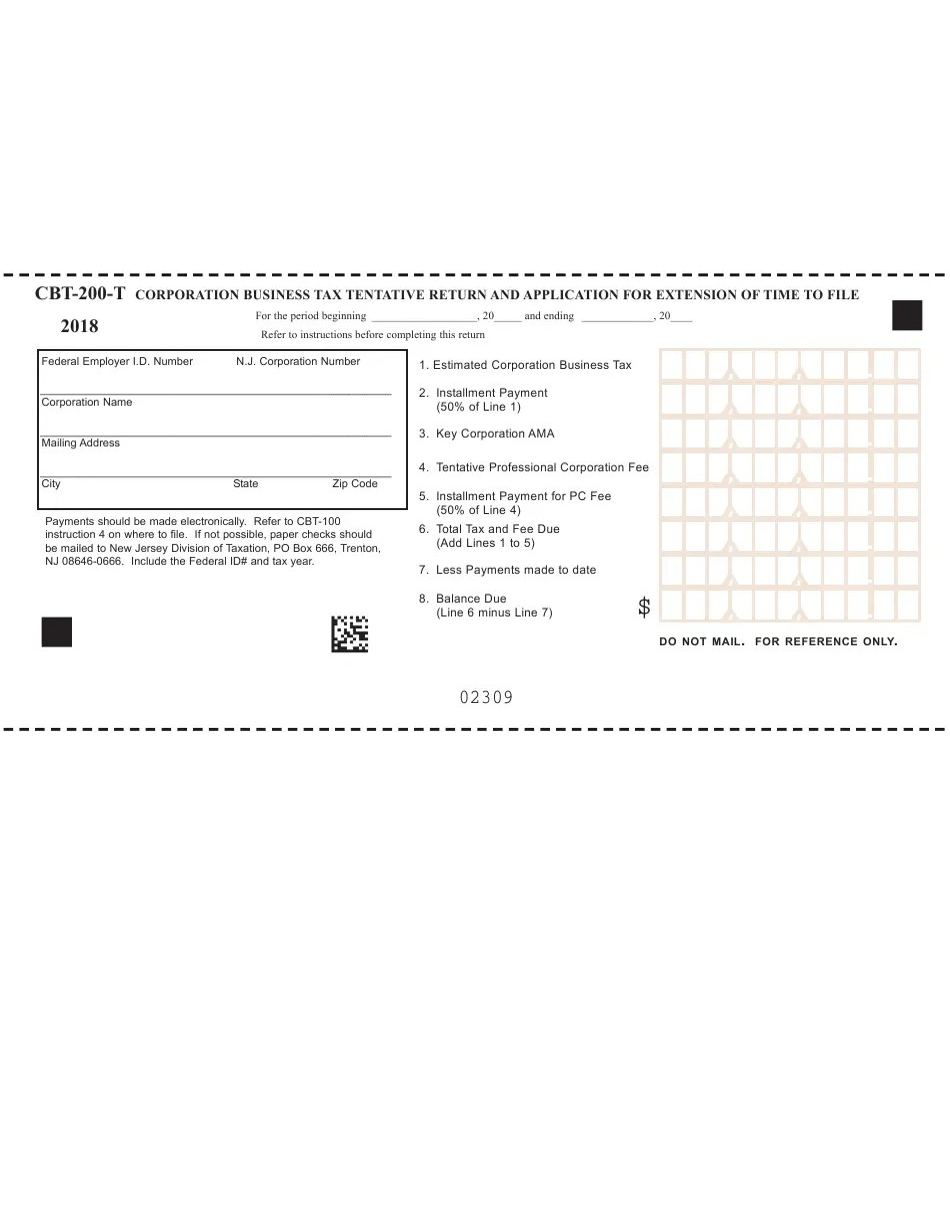 Form CBT-200-T Download Fillable PDF or Fill Online