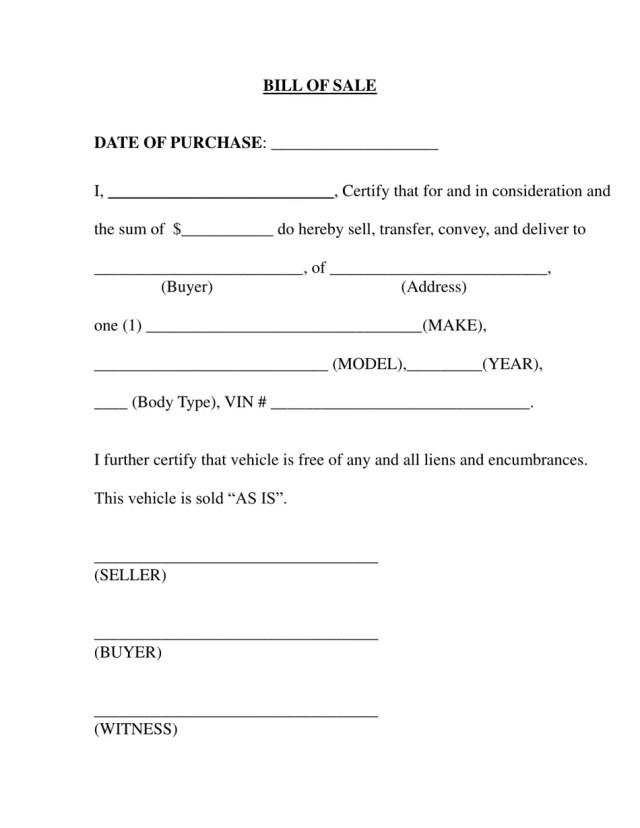 Etowah County, Alabama Vehicle Bill of Sale Form Download