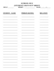 Key Sign-Out Sheet Template Download Printable PDF