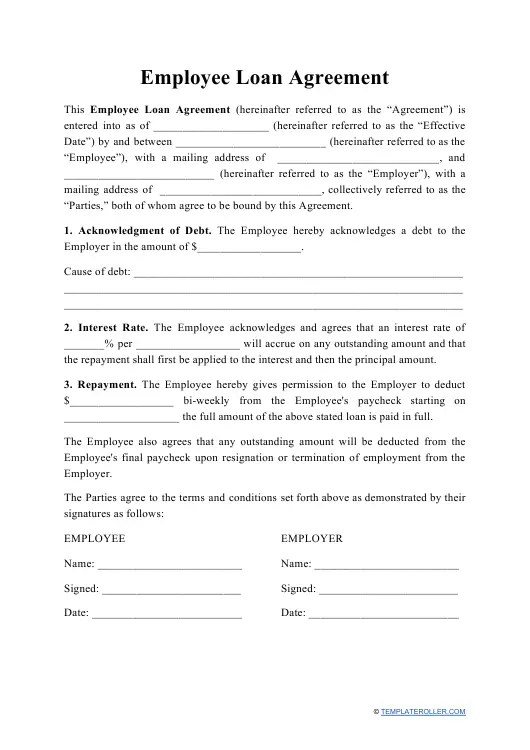 A loan agreement is a written agreement between a lender and a borrower. Free Loan Agreement Templates Create Pdf Download Print Templateroller