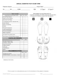 Comprehensive Diabetes Foot Examination Form Download