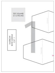 Hair Bow Cut-Out Template Download Printable PDF